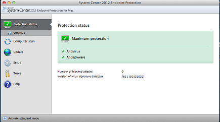 Installing System Center Endpoint Protection for Mac OS X